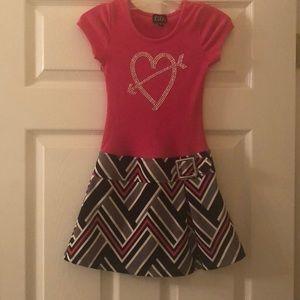 Dresses - Girl's Pink Heart Dress